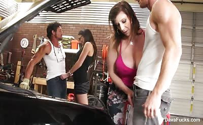 Dava and her friend fuck some lucky guys