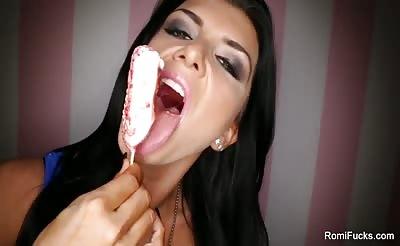 Romi's sexy ice cream eating