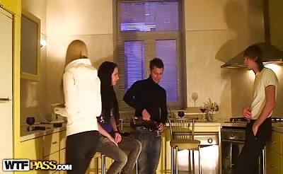 Kitchen amateur sex video scene 2