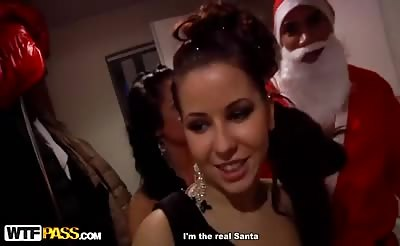 Santa Claus got seduced by hot college girls