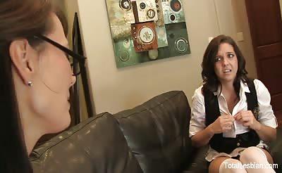 Naughty schoolgirl fucks her sexy MILF teacher