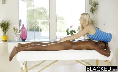 Blacked-Karla Kush massages a BBC