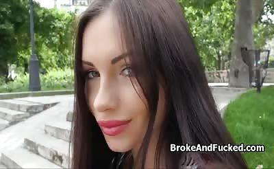 Hot fuck in public park for cash
