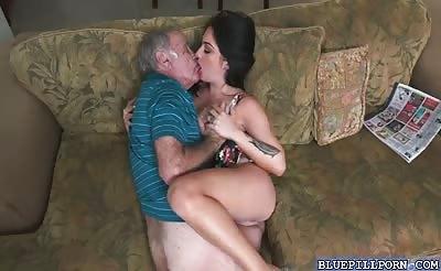 Sweet hottie Aria Rose having a huge dick to suck