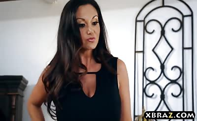 Huge boobs mom Ava Addams protects her precious family