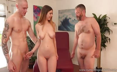 Stella Cox Jerks Her Husband Off While Being Pounded