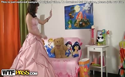 Strap on sex video with a princess