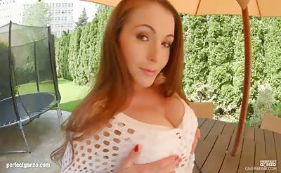 GiveMePink hottie Zara masturbating until orgasm at home