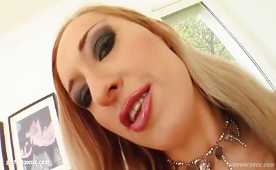 Mercy in a many guy facial cumshot blowjob scene from Cum For Cover
