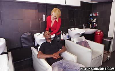 Hot horny blonde MILF Krissy Lynn craving black cocks