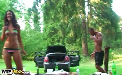Hot student sex party movie from a picnic