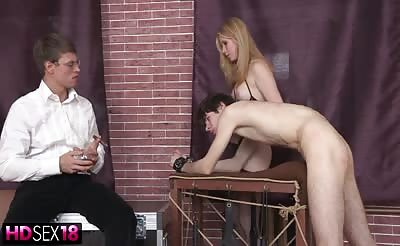 Cute girl in lingerie spreads and gets hard fuck