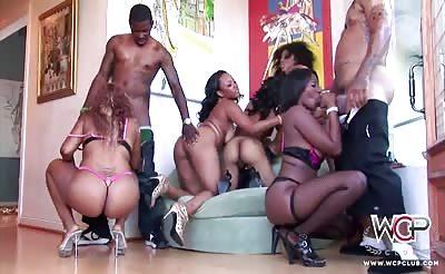 Big booty orgy