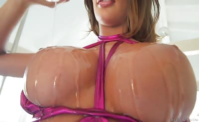 August Ames Oily Sex Session