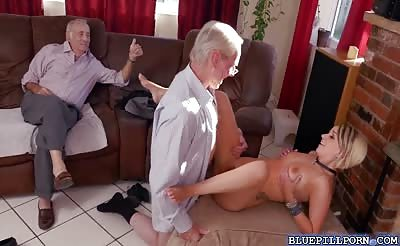 Presley Carters pussy fucked by old cock