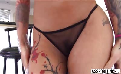 Bella gets pounded in the ass by her BF