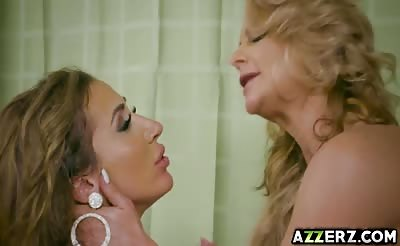 Hot busty lesbians licks and hot ass fucking