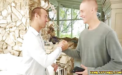 Richie and Chad high five while screwing Lily Jordan