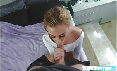 Adorable amateur Cara gets fucked hard