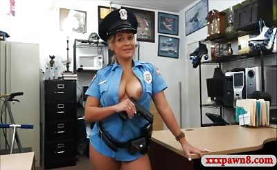 Latin police officer railed by pawn man at the pawnshop