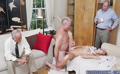 Molly Maes shaved pussy rides on Glens cock