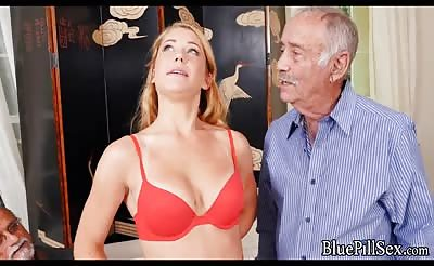 Old Men Love this Redhead Amateur