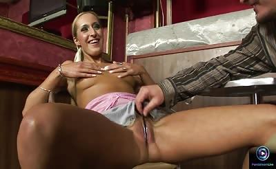 Hottie blonde Mercy anal fucked