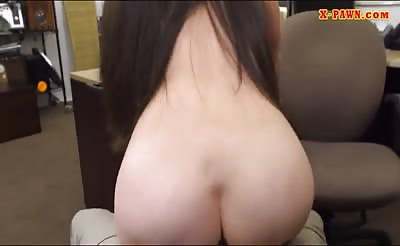 Hot amateur brunette woman gets fucked at the pawnshop