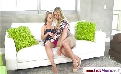 Nina fucks teen lesbian for pleasure