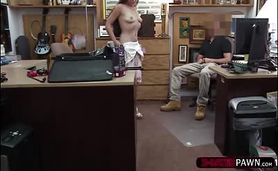 Gorgeous brunette dominatrix gets banged