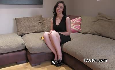 British fake agent anal screws petite brunette babe