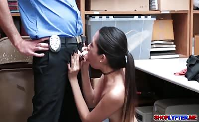 Hot Asian thief Jade Noir fucked by the detective