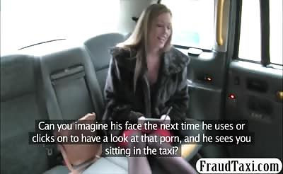 Amateur blonde passenger gets drilled to off her fare