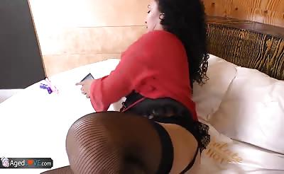 AgedLovE Latina Sharon Fucking Hard With Youngster