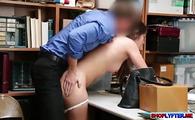 Hot shoplifter Shane Blair gets what she wants