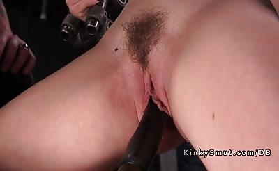 Ass and pussy and nipples tortured blonde sub