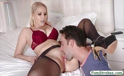 Huge juggs MILF Vanessa Cage gets pounded by her stepson