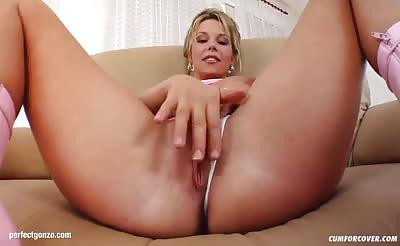 Facial group cumshots for Karin on Cum For Cover in a blowb