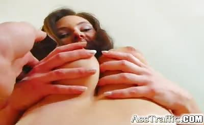 Ass Traffic Girl with giant tits and gets screwed in the bu