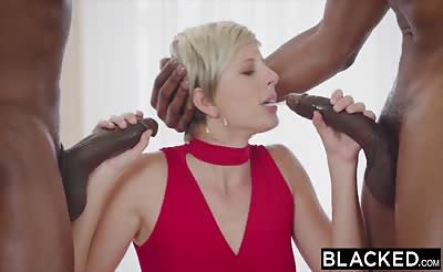 BLACKED Housewife Gets Slammed by Two BBCs