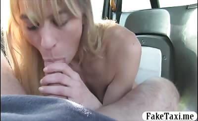 Slim horny Holland Blonde fucked by the driver for free