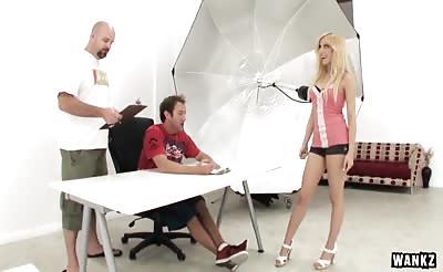 WANKZ- Blond Nikki Sweets First Porn Scene