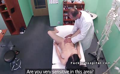 Doctor bangs patient doggy style