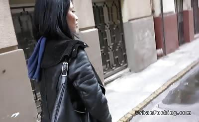 Huge cock guy pickes up Asian in public