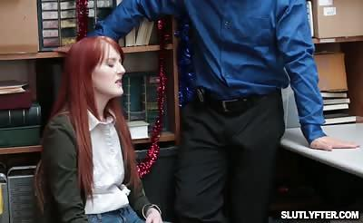 LP Officer romping Krystal Orchids tight pussy