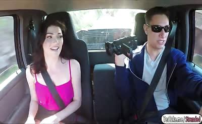 Jessica Rex gets fucked in the car