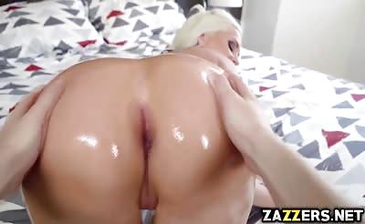 Alena Croft rides her tight anal on top