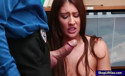Shoplifter Davina Davis gets pounded by horny LP officer