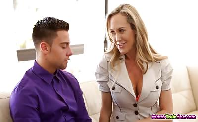 Brandi Love drinks cum from Kiera Winters oozing pussy