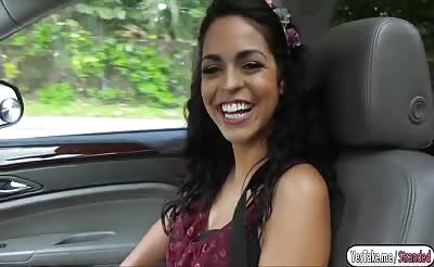 Vienna Black having sex inside the car